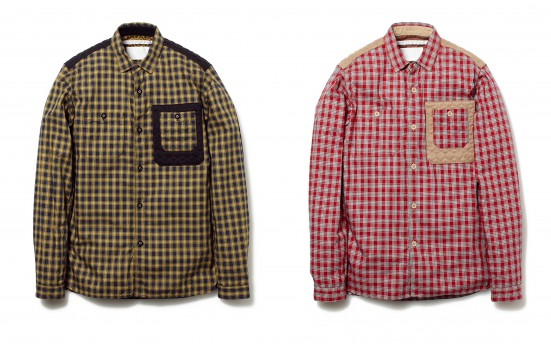 OXFORD CHECK TRIPLE NEEDLE WORK SHIRT