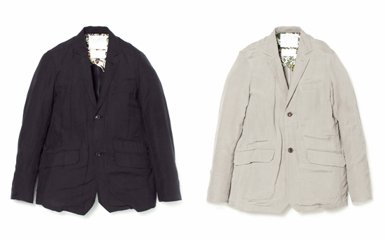 LINEN/RAYON EASY CLOTH SINGLE 2B JACKET