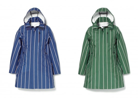 PERTEX SHIELD DV 3L POLYESTER STRIPE COAT