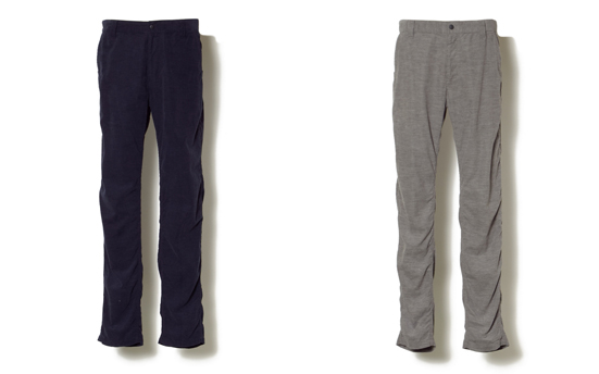 LIGHT CORDUROY TRIPLE NEEDLE PANTS