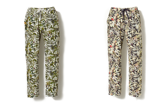 RAYON/ COTTON BOTANICAL PRINT EASY PANTS