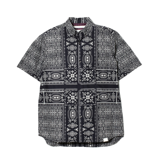COTTON LAWN BANDANA PRINT SHORT SLEEVES SHIRT