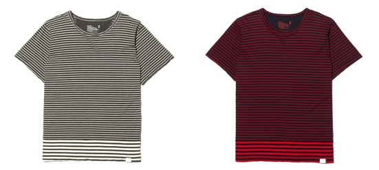HIGH GAUGE SOFT JERSEY BORDER CONTRAST T-SHIRT