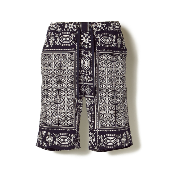 BANDANA PRINT OXFORD EASY SHORT PANTS