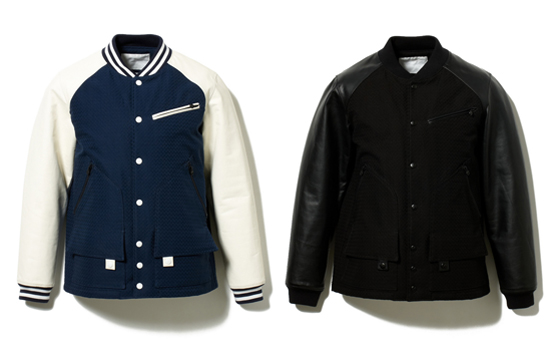 COTTON BIG HERRINGBONE VARSITY JACKET