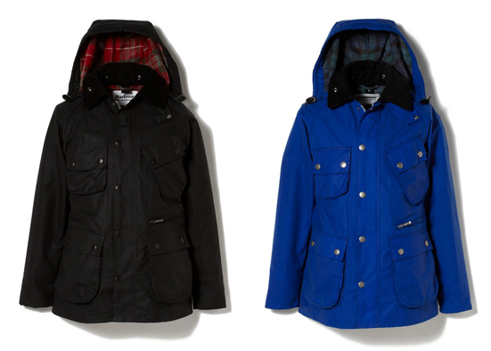 WM x Barbour WAX COTTON HOODED JACKET