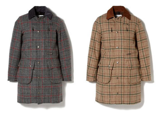 WM x Barbour WOOL CHECK COAT