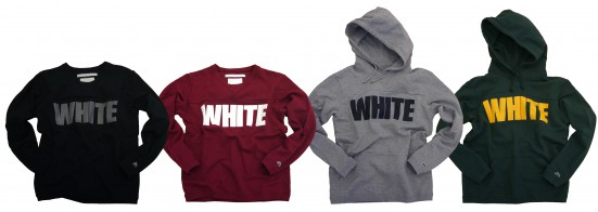WHITE LOGO SWEAT& PARKA