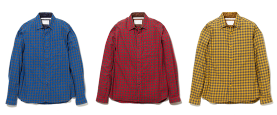 COTTON LIGHT FLANNEL CHECK ROUND HEM SHIRT