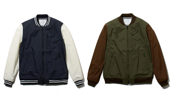 SAITOS NYLON TAFFETA 3LAYER VARSITY JACKET [Carnot]