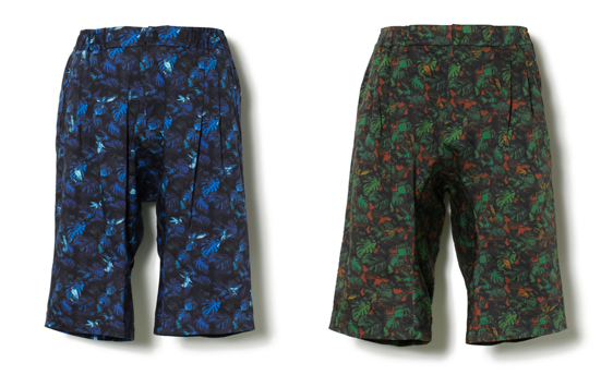 HUMMINGBIRD PRINT STRETCH SAROUEL SHORT PANTS