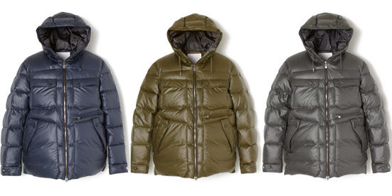 WINDSTOPPER MELANGE POLYESTER TAFFETA DOWN JACKET